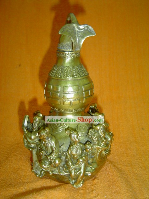 Chinese Classic Brass Statue-The Eight Immortals in The Legends