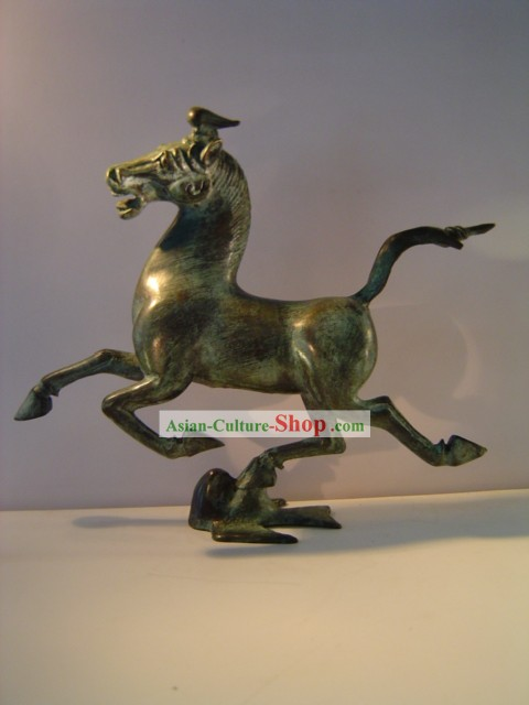 China Classic Archaize Bronze Ware-Horse Flying on the Swallow