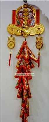 Chinese Lucky Red Firecracker Hanging