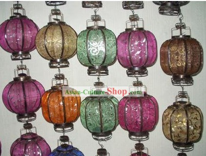 Chinese Traditional Silk Iron Lantern