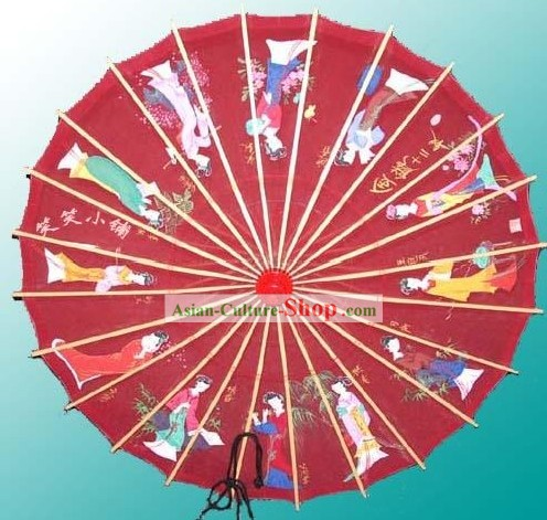 Hangzhou Classic Hand Painted Silk Umbrella