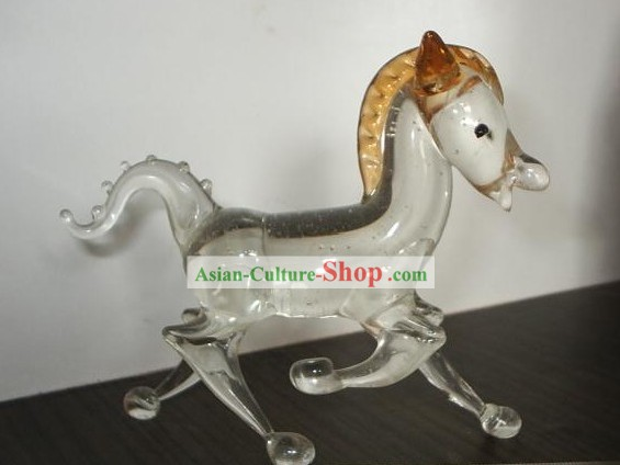 Chinese Classic Coloured Glaze Works-Yellow Horse