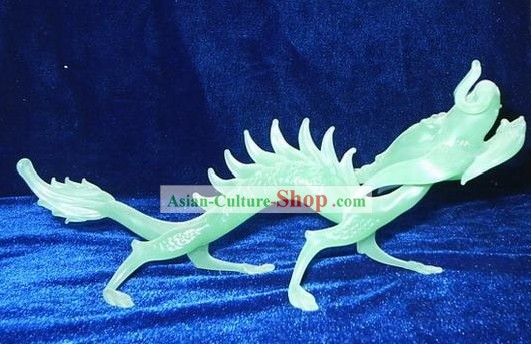 Chinese Classic Coloured Glaze Works-Lucky Green Dragon