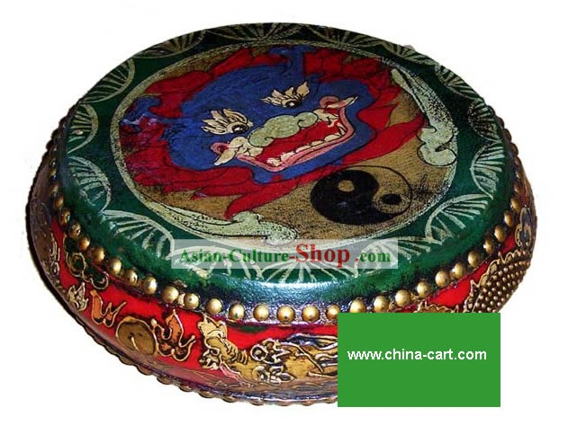 Chinese Classic Coloured Drawing Shu Gu(Drum)