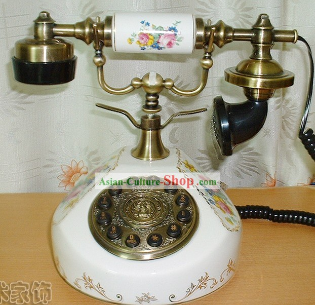Chinese Traditional Old Antique Style Telephone