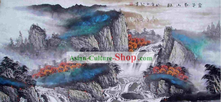 Traditional Chinese Painting by Tang Like-Autumn Frost Mountain