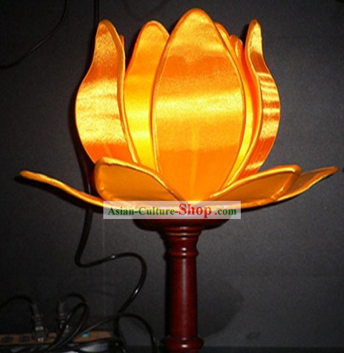 Chinese Hand Made Silk Palace Lotus Lamp (Lantern)