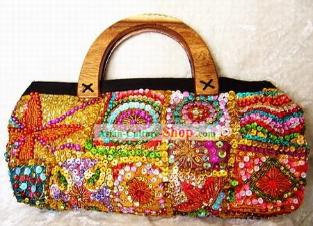 Indian Super Beautiful Hand Embroidered Handbag