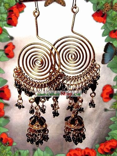 Indian Bohemia Fashion Earrings-Black Angel