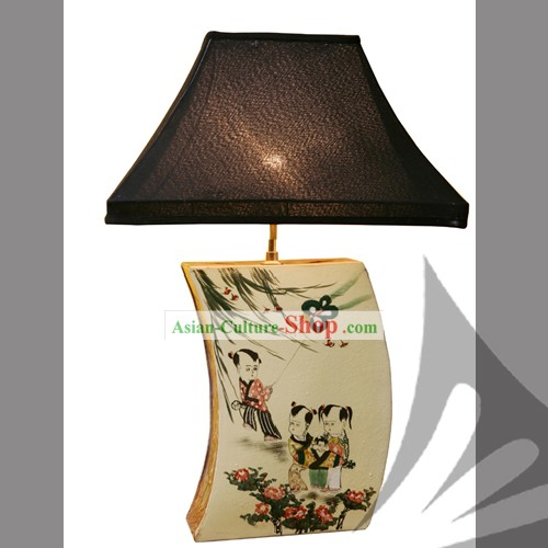 Chinese Classic Hand Made Ceramics Lamp-Joy of Children
