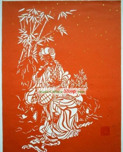 Chinese Paper Cuts Classics-Beside the Bamboo Forest to Be Cool in Summer