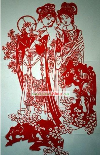 Chinese Large Paper Cuts Classics-The Portrait of Ladies in Palace