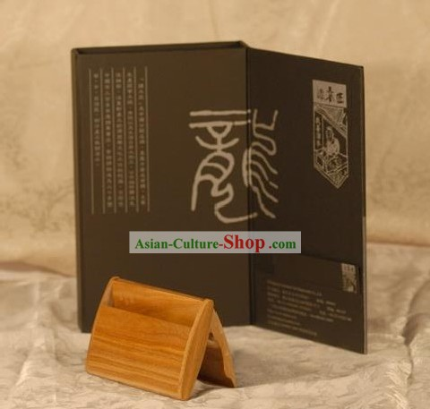 Chinese Carpenter Tan 100 Percent Hand Made Wooden Cardcase