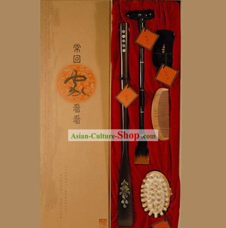Chinese Carpenter Tan Hand Made 4 Pieces Healthy Gift Set(best present for parents and grandparents)