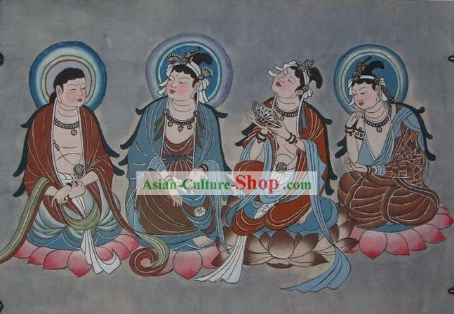 Chinese Dunhuang Fresto Painting-Fo