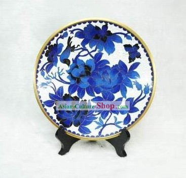 Chinese Palace Bird and Flower Closionne Plate