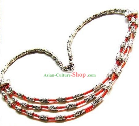 Tibetan Ancient Silver Necklace-Prince