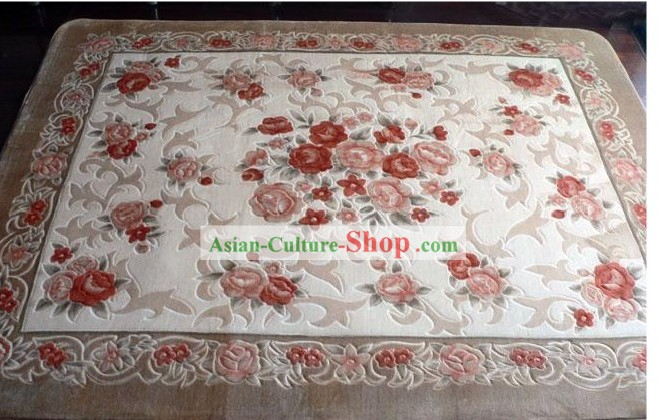 Art Decoration Chinese Classical Flowery Rug (185?��185cm)