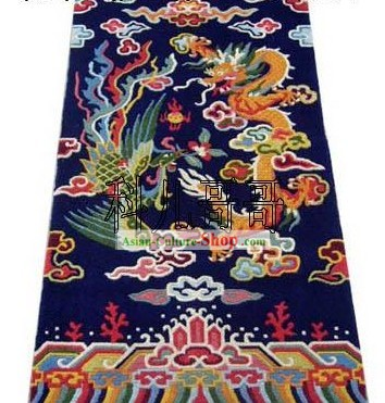 Art Decoration Chinese Hand Made Wool Dragon and Phoenix Rug(180¡Á93cm)