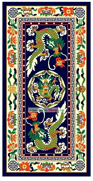 Art Decoration China Tibetan Large Hand Made Wool Rug-Dragons (200?��400cm)