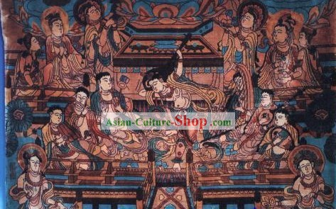 Art Decoration Chinese Hand Made Thick Silk Arras/Tapestry (134*91.5cm)