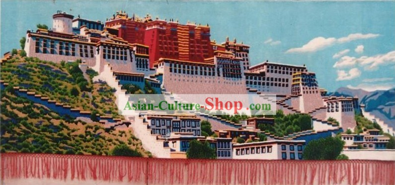 Art Decoration Chinese Hand Made Large Tapestry/Carpet-the Potala Palace (137cm*279cm)