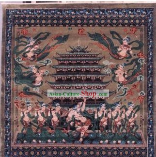 Art Decoration Chinese Hand Made Thick Silk Arras/Tapestry (150*94cm)