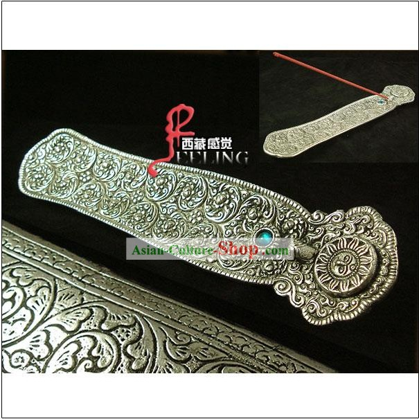 Tibetan 100 Percent Hand Made Incense Silver Plate