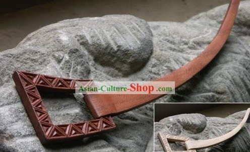 Hand Carved Chinese Traditional Walnut Hair Pin (Hairpin)-Spring