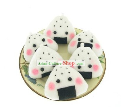 Cute Hand Made Velvet Pendant Rice and Vegetable Roll