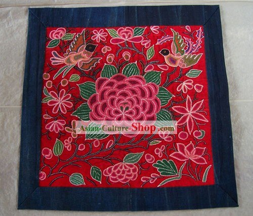 Chinese Old Hand Embroidery Vintage Collectible-Peony