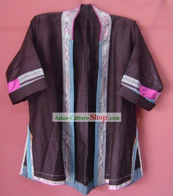 Stunning Miao Minority Silk Thread Hand Embroidery Chinese Jacket for Woman