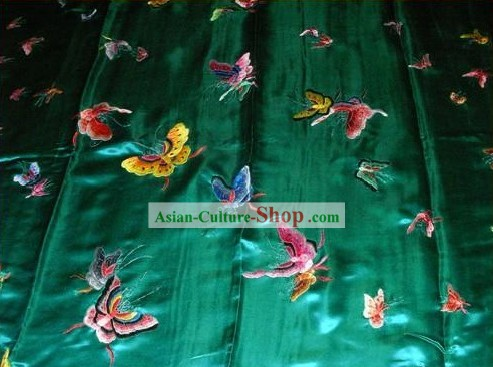 Chinese Hand Embroidery Bedcover-Butterfly World