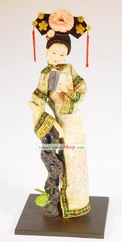 Handmade Peking Silk Figurine Doll - Lin Daiyu in Dream of Red Chamber