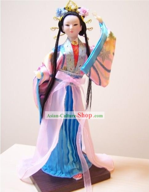 Handmade Peking Silk Figurine Doll - Diao Chan (One of Ancient Four Beauties)