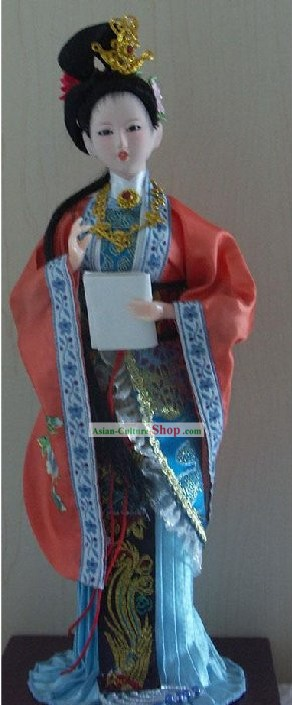 Handmade Peking Silk Figurine Doll - Jia Yinchun in Dream of the Red Chamber