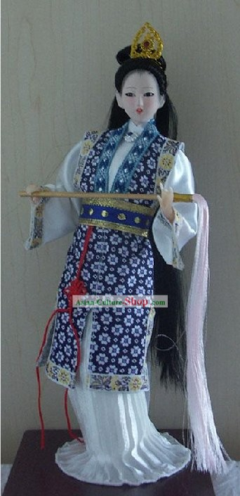 Handmade Peking Silk Figurine Doll - Miao Yu in Dream of the Red Chamber