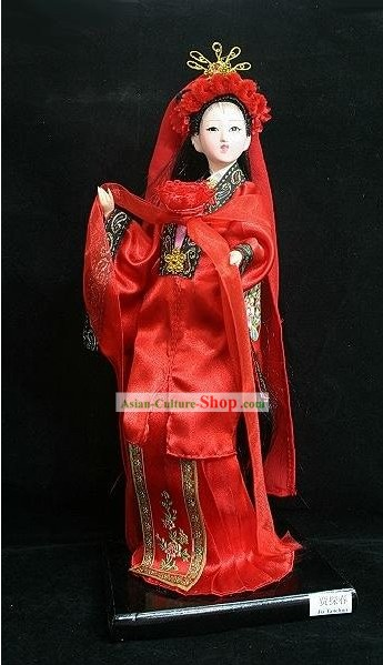 Handmade Peking Silk Figurine Doll - Jia Tanchun in Dream of the Red Chamber