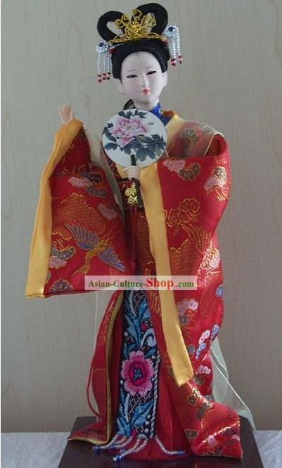 Handmade Peking Silk Figurine Doll - Jia Yuanchun in Dream of the Red Chamber