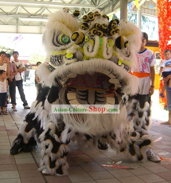 Chinese Classic Long Wool Lion Dance Costumes Complete Set