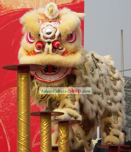 Happy Festival Celebration Chinese Classic Lion Dance Costume Complete Set