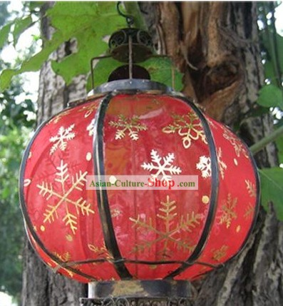 Chinese Ancient Style Silk Iron Lantern - Snowflake