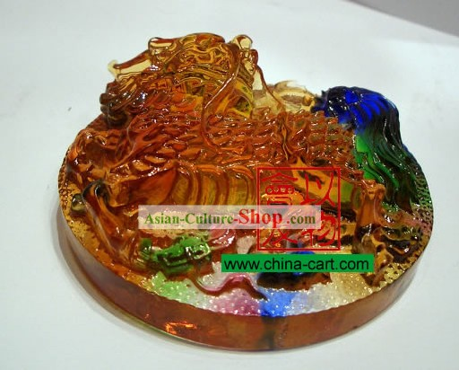 Chinese Classic Ancient Method Colored Glazed-Kylin