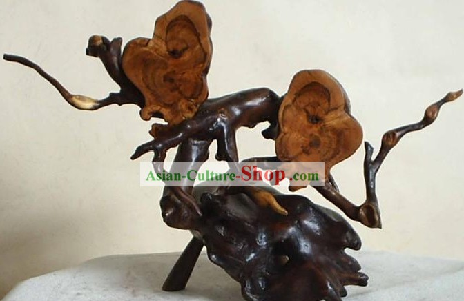 Natural Daqing Lang Wood Classic Collectible-Blossoming Flower of Love