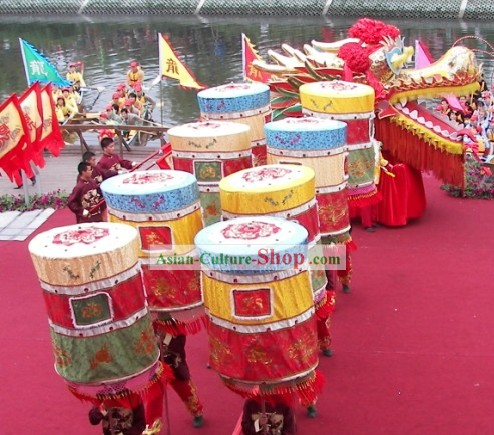 Chinese Traditional Extra Large Lion and Dragon Dance Troupe Banner