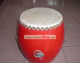Chinese Traditional 30cm Diameter Red Drum