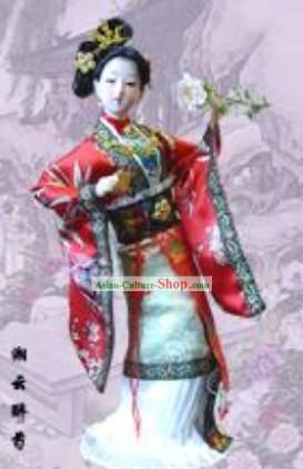 Handmade Peking Silk Figurine Doll - Shi Xiangyun in Dream of the Red Chamber