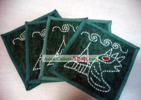 Chinese Classical Hand Made Tablemat for Batik Tablecloth (4 pieces set)