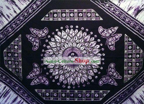 Chinese Classical Large Batik Tablecloth-Butterfly love Flower