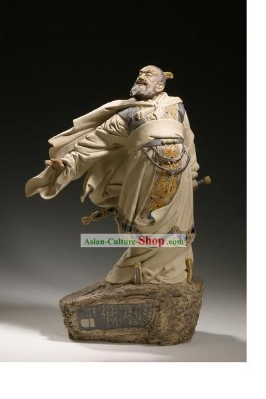 Chinese Classic Shiwan Ceramics Statue Arts Collection - Cao Cao